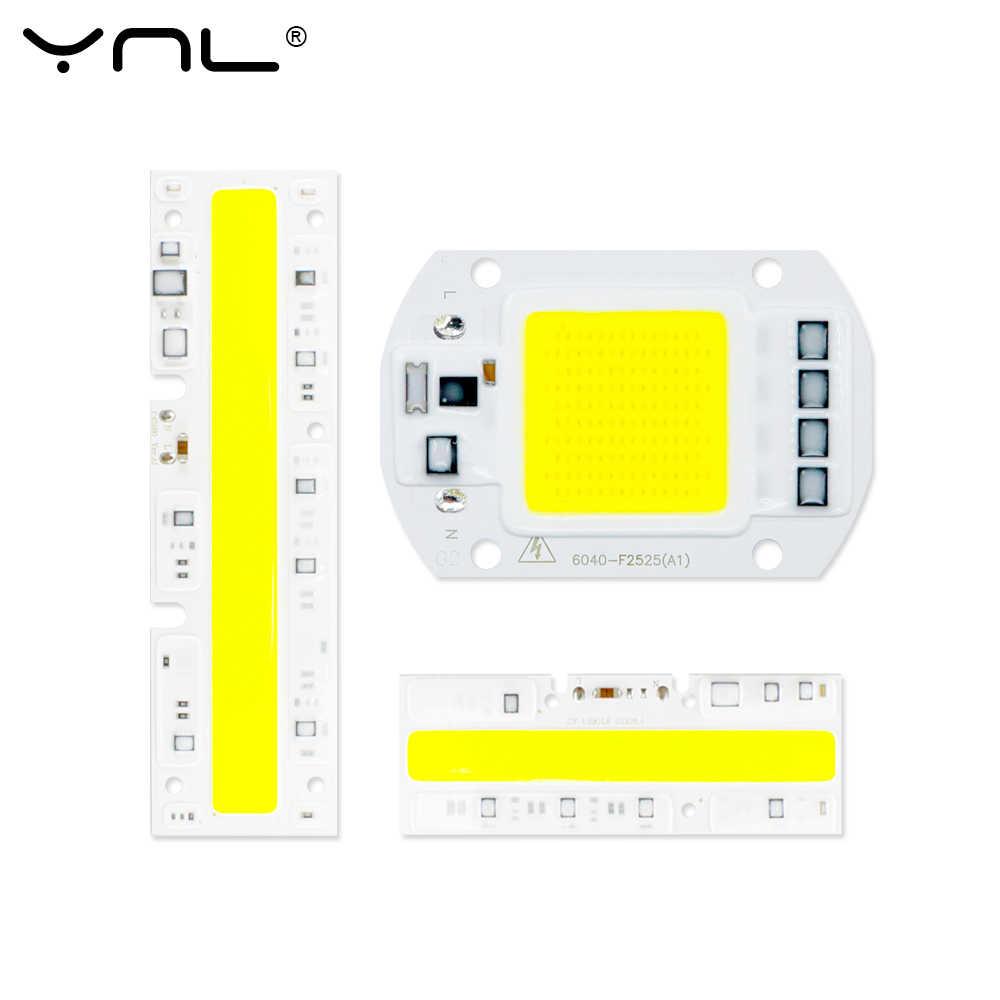 COB LED Chip Smart IC Driver Floodlight 10W 20W 30W 50W 220V 110V DIY Spotlight