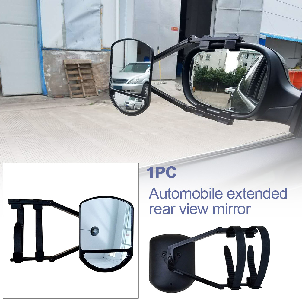 car Caravan Trailer Towing Tow Wing Mirror Extender Blind Spot Extension Clip On