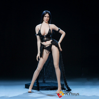 XYtoys XY003 1/6 Black Leather Underwear Lace Skirt Sexy Suit for 12 Inches Action Figures Accessory