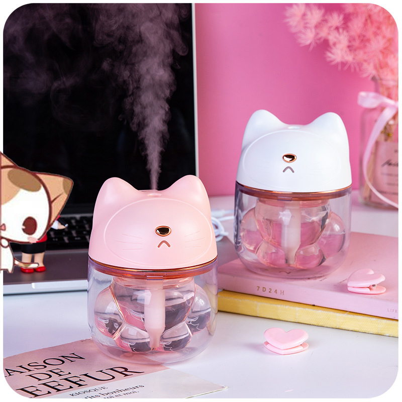 ELOOLE Ultrasonic Cat Air Humidifier USB Aroma Essential Oil Diffuser Air Purifier Home Car Mist Maker LED Air Freshener