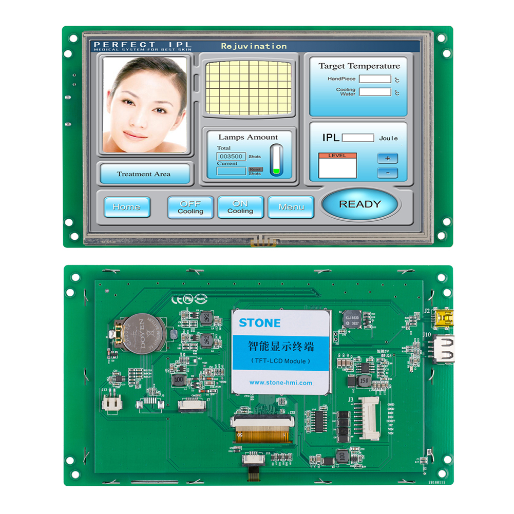 7 Inch 800*600 Resolution Tft Lcd Monitor RS232/USB Interface