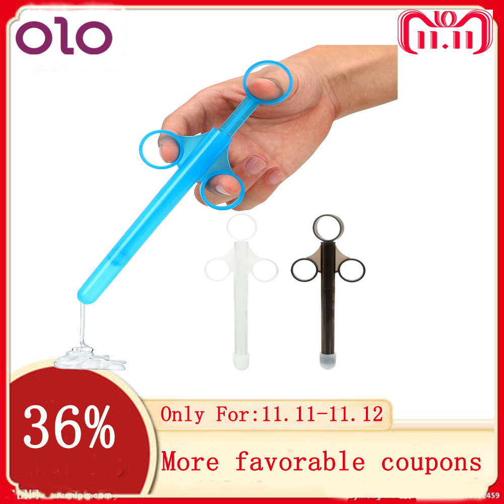 OLO <font><b>Sex</b></font> Toys for Couples Syringe Enema Injector <font><b>Anal</b></font> Vagina Clean Tools Adult Products Lube Launcher <font><b>Lubricant</b></font> Applicator image