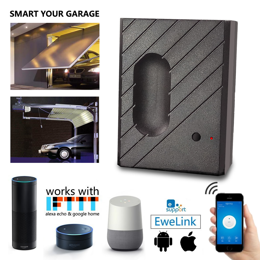 Simple Micro Link Smart Garage Door Wifi Switch Phone One Button Control Alexa Google