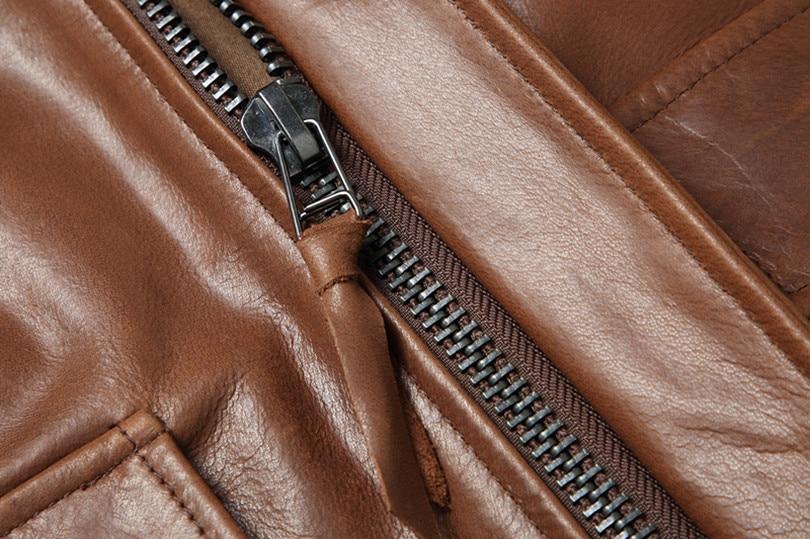 H80301164125c48ca87745118642d9631P Free shipping.Warm Mens classic genuine leather Jacket,quality men's vintage flight jackets.Eur Plus size Casual A2 coat.sales