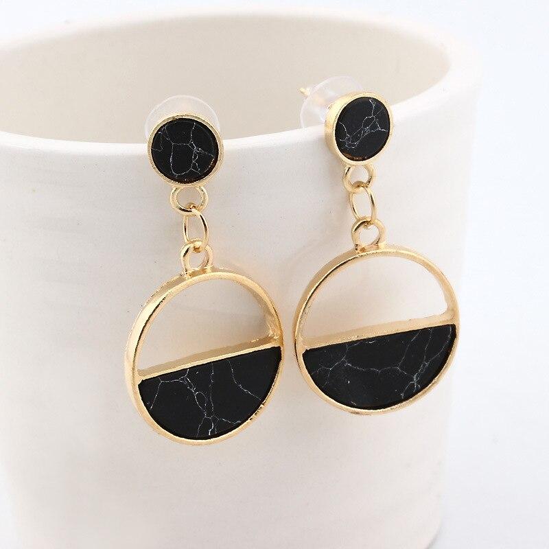 Fashion Statement Earrings 2019 Geometric Earrings For Women Round Triangle  Dangle Earrings Drop Earing Modern Jewelry