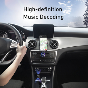 Image 5 - Baseus USB Car Charger For Phone FM Transmitter Bluetooth 5.0 Handsfree Audio MP3 Player Aux Bluetooth Adapter Fast Charging
