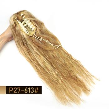MRSHAIR włosy naturalne przypinany kucyk na włosy 60cm długie naturalne kucyk doczepy z ludzkich włosów sznurek krab klamra do włosów klip 100 gramów tanie i dobre opinie FALISTE Nie remy włosy 100 g sztuka CN (pochodzenie) Tylko ciemniejszy kolor CHINA Na klipsy Kolor fortepianu Brazylijskie włosy