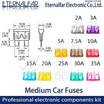 цена на ClipAmp  Assortment Auto Standard Blade Fuse-Suv Medium Car Fuses 2A 3A 5A 7.5A 10A 15A 20A 25A 30A 35A