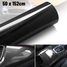 High Glossy 6D Carbon Fiber Wrapping Vinyl Film Motorcycle Tablet Stickers And Decals Auto Accessories Car Styling 152cmx50/20cm