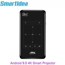 Smartldea 4K Mini Mobiele Projector Android 9.0 , BT4.1 Portable Hd Projector Beamer 5000Mah Batterij Touch Toetsen Airplay Miracast