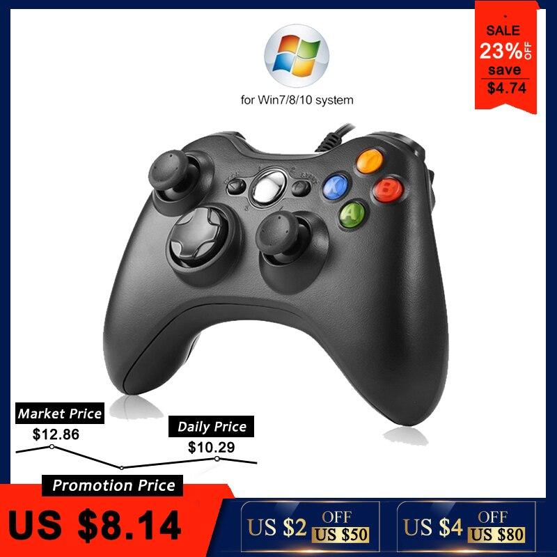 Manette de jeu de Vibration filaire USB pour contrôleur PC pour Windows 7/8/10 pas pour Xbox 360 Joypad de haute qualité