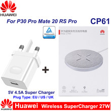 Huawei CP61 Draadloze Super Lader 27W Max Qi Draadloze Oplader Voeg 22.5W Super Lader Voor Huawei P30 Pro mate20 Rs Pro IPhone11