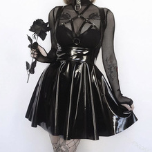 Gothic Dress Trendy Hipster Creative Designer Club Thin Winter Autumn Best Sellers Draw Back Western Style Sexy Dress