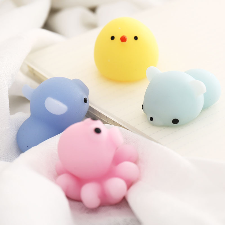 Squishy Mochi  Mini Soft Squeezable Sensory Fidget Toys Decoration And Stress Relief For Party Favors, Birthdays And Goodie Bag