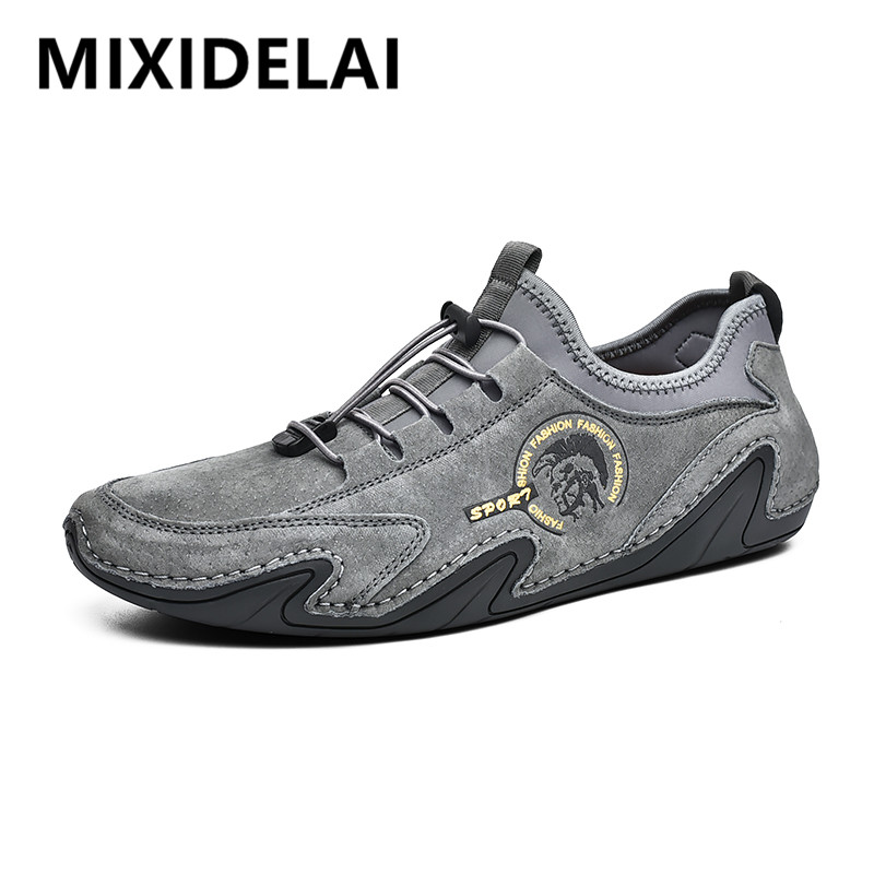 New Fashion Casual Shoes Loafers Quality Leather Men's Shoes Men Flats Moccasins Shoes Comfortable Driving Shoes Big Size 38-46