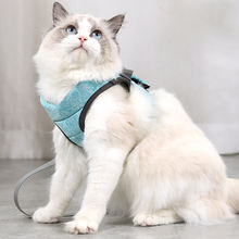 Pet cat dog harness small medium collar walking lead leash for