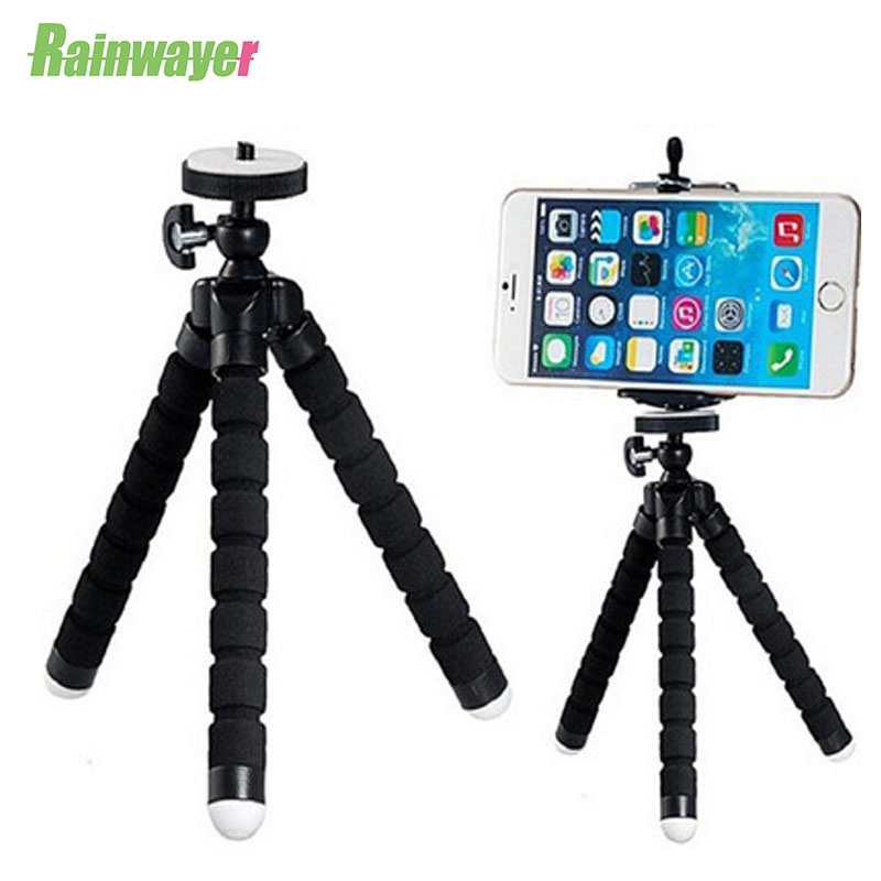Mini Flexible Sponge Octopus Tripod For iPhone Xiaomi Huawei Smartphone Tripod With Clip Holder Remote Shutter for Gopro Phone|Live Tripods| |  - title=