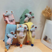 Autumn Winter New Imitation Rabbit Hair Pure Color Children'S Scarf Baby Boys Girls Plush Little Bear Neck Warm Scarves(China)