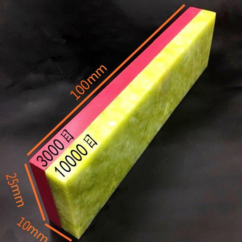1pc Blade Razor Diamond Knife Sharpener Stone Whetstone Polishing Tool Two Sides 10000# 3000# Grit