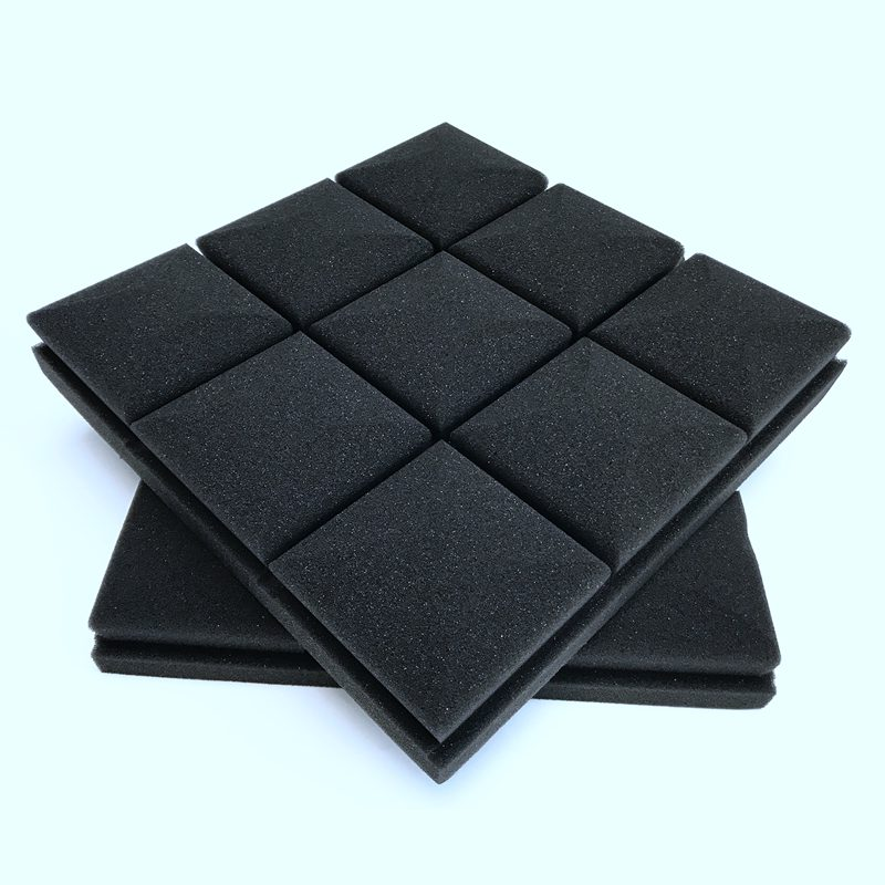 Promotion! 4 pcs Soundproofing Foam Studio Acoustic Sound Treatment Absorption Wedge Tile 30*30*5cm