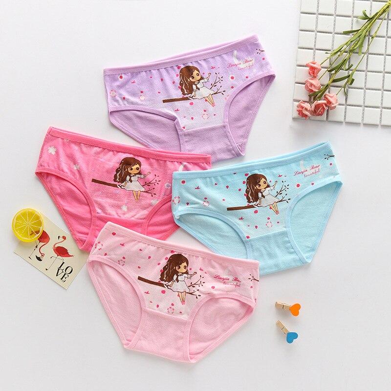 1PC New Kids'underwear Triangle Cotton Girls' Underwear Cotton Cartoon Kids'underwear All Cotton Quartet Underwear