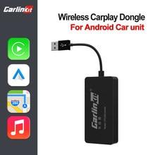 LoadKey & Carlinkit sem fio carplay adaptador sem fio android dongle automático para modificar tela android carro ariplay ligação inteligente ios14