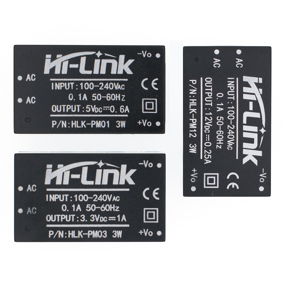 HLK-PM01 HLK-PM03 HLK-PM12 <font><b>AC</b></font>-<font><b>DC</b></font> 220V to 5V/<font><b>3.3V</b></font>/12V mini <font><b>power</b></font> <font><b>supply</b></font> <font><b>module</b></font>,intelligent household switch <font><b>power</b></font> <font><b>supply</b></font> <font><b>module</b></font> image