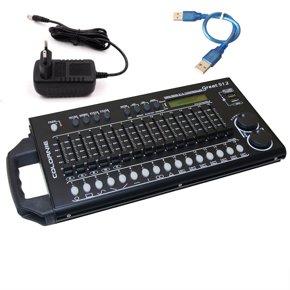 512 Channels DMX&RDM Controller Stage Lighting DMX Console <font><b>Dmx512</b></font> Console Work With <font><b>USB</b></font> Power Bank For Stage Light DJ Equipment image