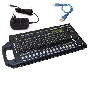 Image 1 - 512 Kanal DMX ve RDM Kontrol Sahne Aydınlatma DMX Konsolu Dmx512 Konsolu Çalışma için USB Güç Bankası Ile Sahne Işığı DJ Ekipmanları