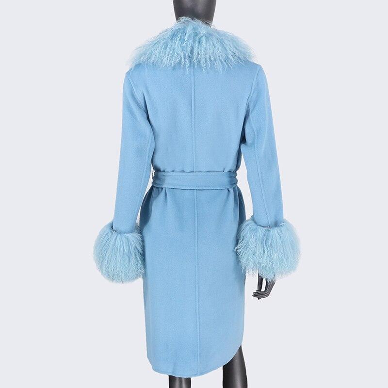 H8030fc00905344a989f1d9280baae8bcc 2021X-Long Natural Mongolia Sheep Real Fur Coat Autumn Winter Jacket Women Double Breasted Belt Wool Blends Overcoat Streetwea
