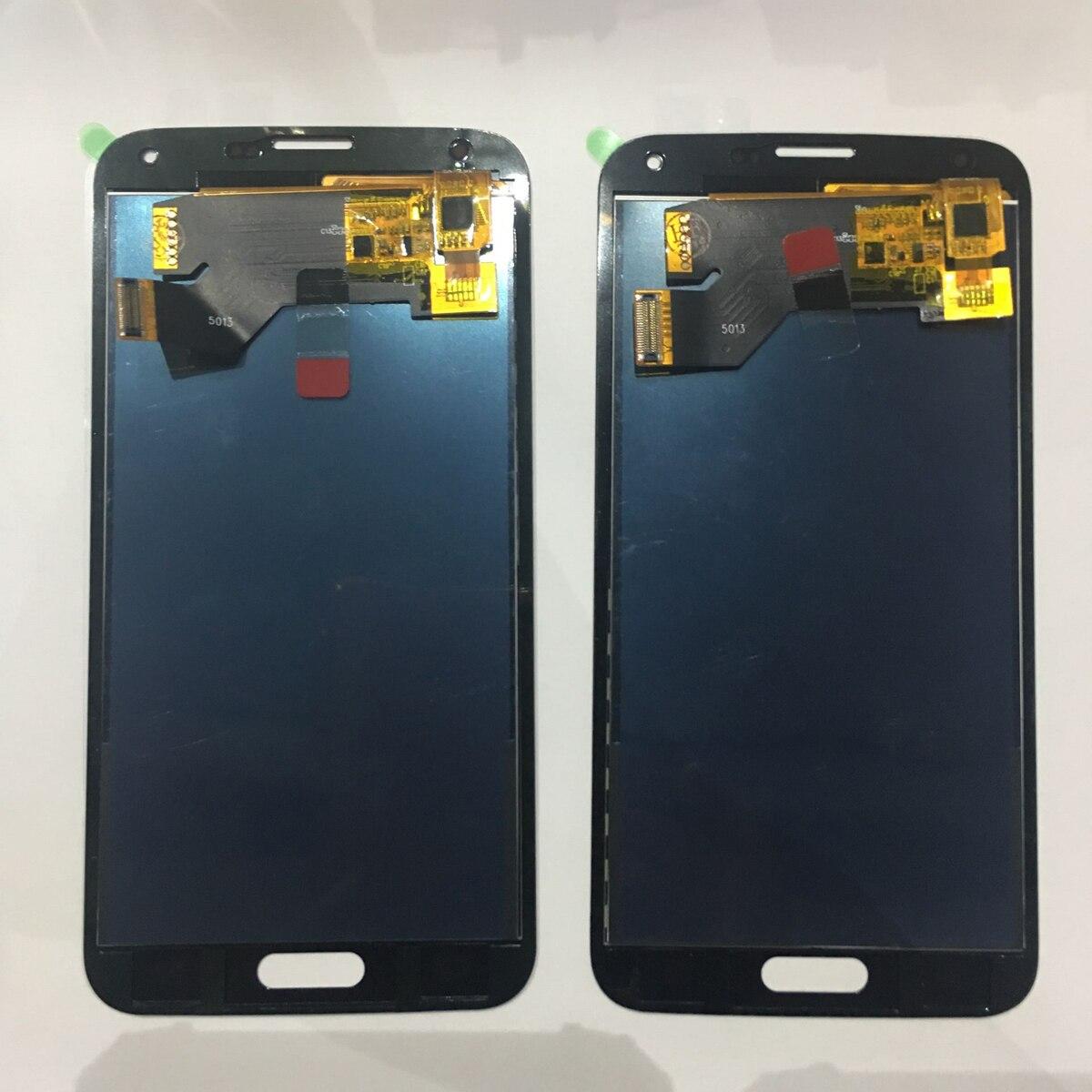 G900f lcd para samsung s5 lcd g900f g900a display lcd g900p g900t g900v digitador da tela de toque para galaxy s5 peças reposição