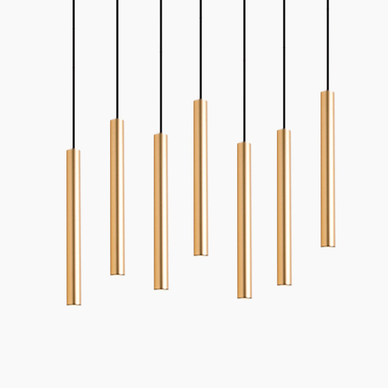 cheapest Dimmable Cylinder LED Pendant Lights Long Tube Lamps Kitchen Dining Room Shop Bar Decoration Cord Pendant Lamp Background Lights