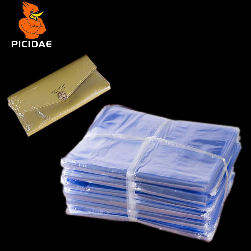 Pvc heat shrink bags/ Clear Membrane Plastic Cosmetic Packaging bags/ plastic shrinkable pouch