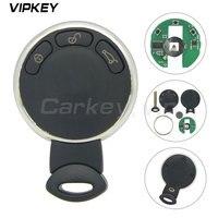 Remotekey chave inteligente 434 mhz 2011 2010 2009 2008 2007 para mini cooper remoto keyless chave entrada iyzkeyr5602 3 botão Chave do carro     -