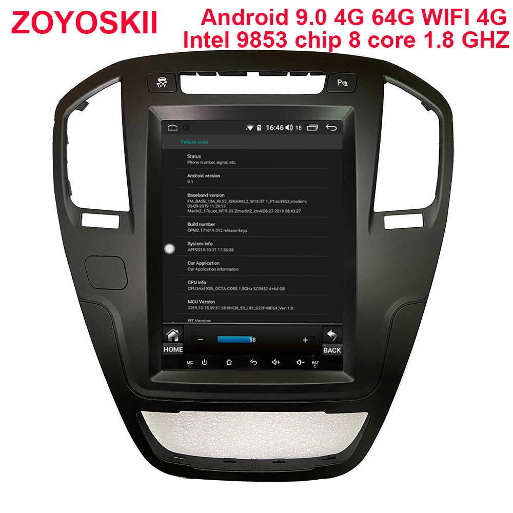 """ZOYOSKII Android 10 10.4 """"Verticale dello schermo Tesla Stile auto gps radio bluetooth lettore di navigazione per Opel insignia 2009-2013"""