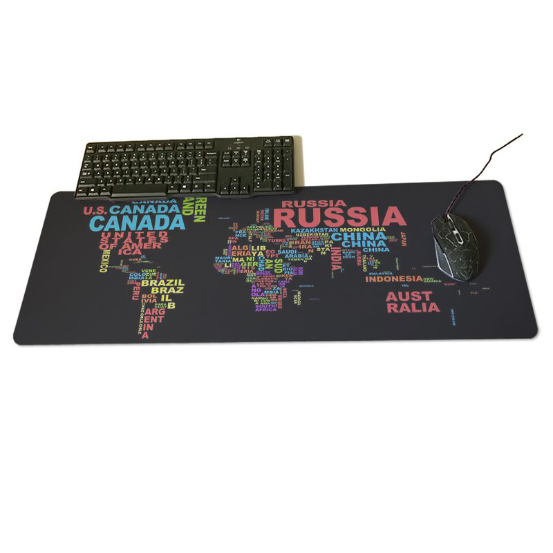 Map Large Game Mouse Pad 600*300 High Quality With Edge Locking Speed Version Game Keyboard Pad For Gamer