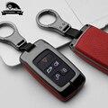 Цинковый сплав кожаный чехол для ключей автомобиля для Land Rover обнаруживает 4 5 Range Rover Evoque freelander 2 Velar fit Jaguar E-Pace