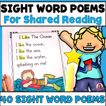 40 Sight Word Poems For Shared Reading (For Beginning Readers) PDF  Electronic File