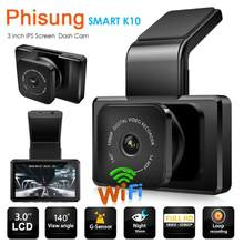 Phisung K10 FHD 1080P Car DVR Camera Dashcam Video Recorder WiFi App Playback Front/Back Dual Recording with Rear View Camera(China)