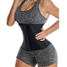 Burvogue las mujeres cinturón de cintura entrenador corsé deporte faja cuerpo moldeador para pérdida de peso sudor de huesos de acero Bustiers & corsés