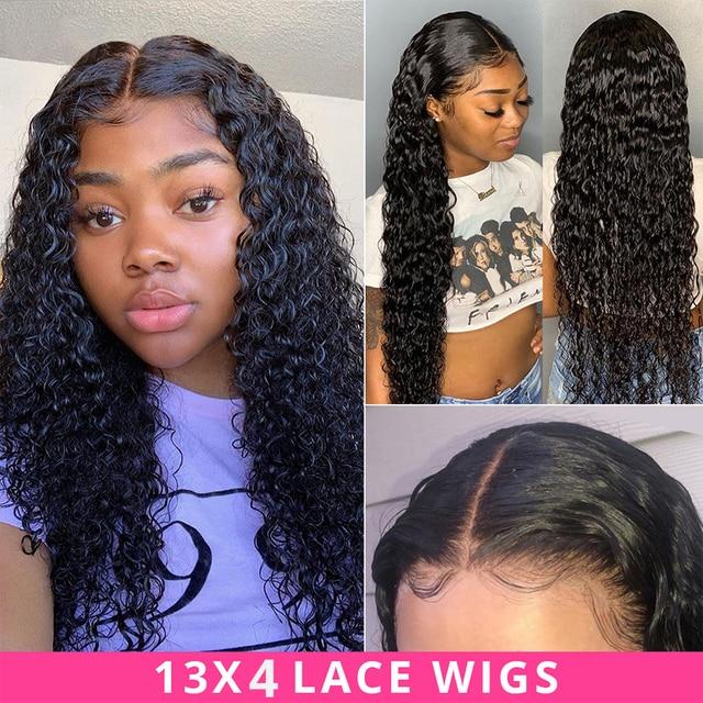 클로저로 브라질 딥 웨이브 번들 클로저로 인간의 머리카락 묶음 brazillian hair 3 bundles with closure non remy hair