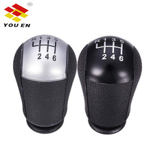 цена на YOUEN 6 Speed MT Gear Stick Shift Knob Car For Ford For Focus Mondeo MK3 S-MAX C-MAX Mustang Galaxy Fiesta Transit Black/Silver