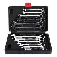 Juego de llaves de 12 uds, llave de Torque 8-19mm, llave de trinquete, llave de garaje para herramientas de reparación de automóviles