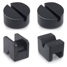 Hot Selling 4Pcs Floor Jack Pad Adapter for Jack Stand Rubber Slotted Frame Welds Protector