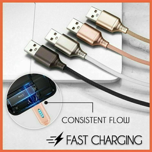 Auto Cut-off Fast Charging Nylon Cable  6