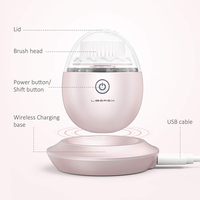Liberex Egg Oscillation Facial Cleansing Brush Powered Face Cleaning Devices 3 Replacement Brush Heads IPX7 3 Modes Skin Care 5