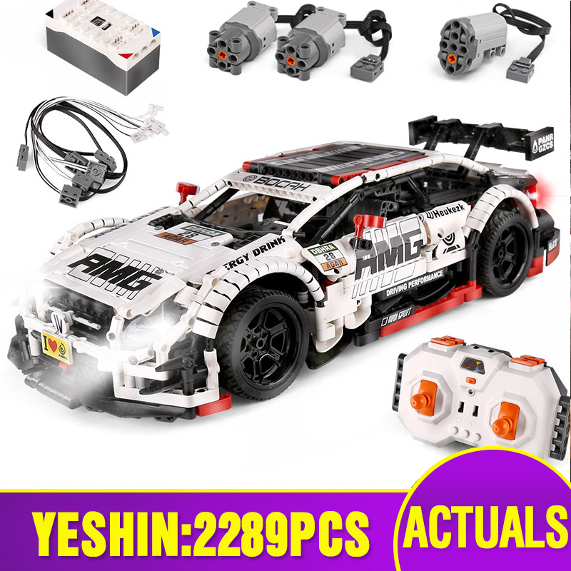 Techinc Car Toys The MOC 6688 AMG C63 DTM Speed Car Model Compatible With Lepining Building Blocks Bricks Kids Christmas Gifts