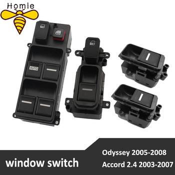 Nowy przełącznik okna elektrycznego dla Honda Accord 2 4 2003-2007 dla Honda Odyssey 2005-2008 tanie i dobre opinie Aroham 3inch 12cm For Honda Accord 2 4 2003-2007 For Honda Odyssey 2005-2008 ABS+Others PRZEŁĄCZNIK ZAPŁONU Power Window Switch