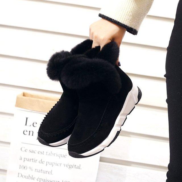 Фото mudibear/женские зимние ботинки женская повседневная обувь из