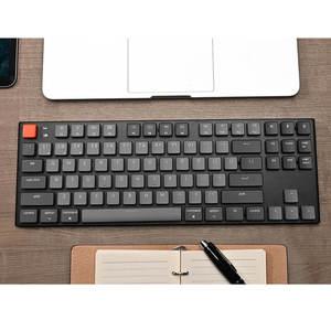 Image 2 - Keychron K1 V4 L 87 Schlüssel Ultra Dünne Drahtlose Bluetooth USB Mechanische Computer Niedrigen Profil Tastatur, weiß Backlit für Mac